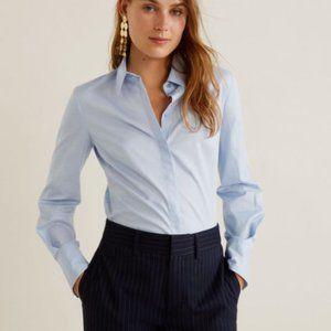 💎 NEW H&M Button Down V Neck Dress Shirt Size 12